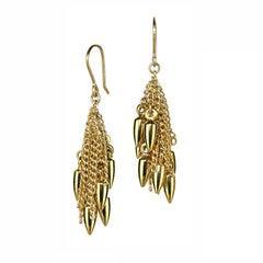 Estyn Hulbert Gold Bullet Chain Cluster Earrings