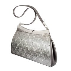 Wendy Stevens Fiddlehead Fern Gray Leather Bag