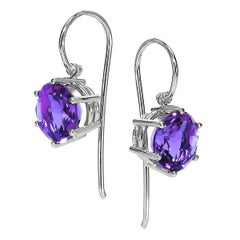 Erich Zimmermann Matched Violet Amethyst Gold Handmade Princess Earrings