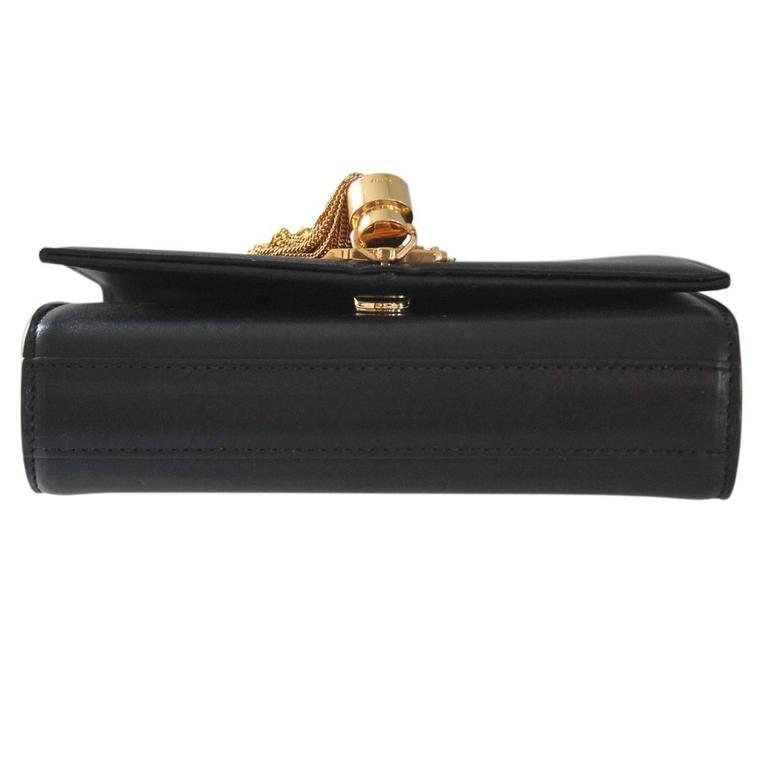 e505817d5ab3 Saint Laurent Paris Small Black Leather Kate Monogram Tassel Satchel Bag  GWH In Good Condition For