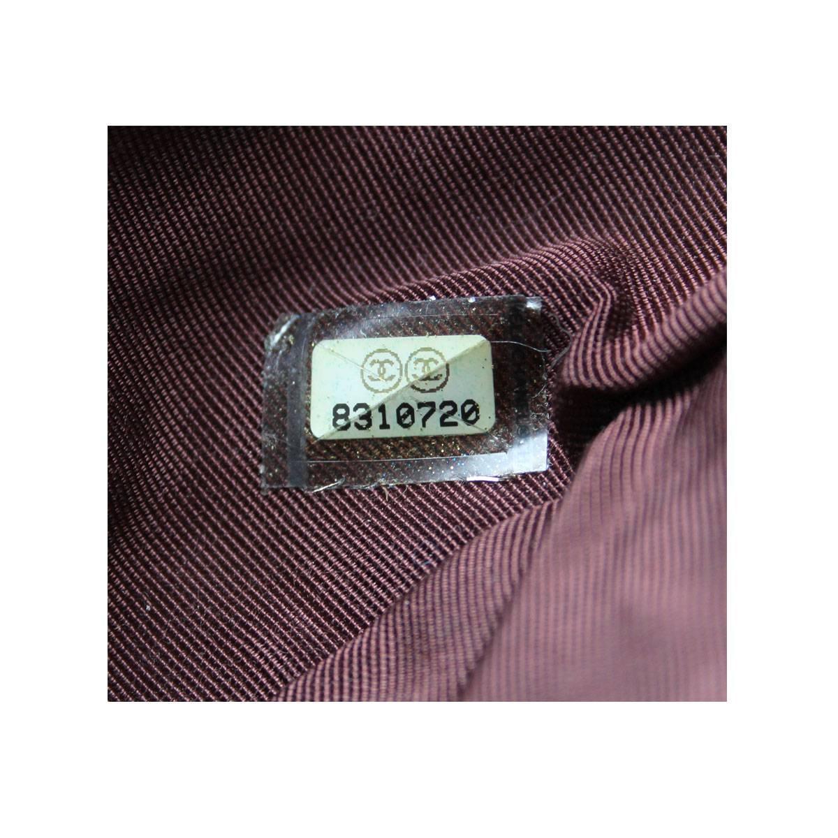 Lot 231: CHANEL CHOCOLATE BAR FLAP SHOULDER BAG, date code for 2000-02 ...