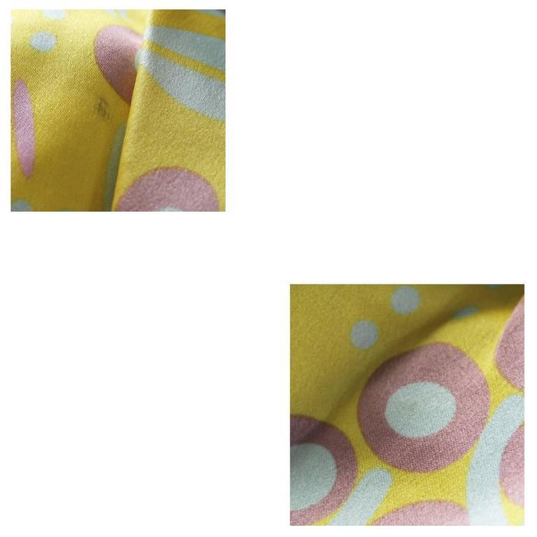 Women's or Men's Chanel Limited Edition Pastel Multicolor Satin Drawstring Tassel Bag Purse For Sale