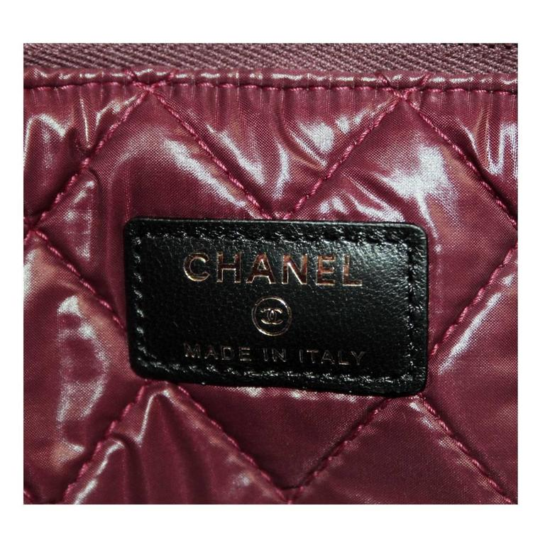 Chanel Black Quilted Lambskin Envelope Clutch No. 20 iPad Case For Sale 4