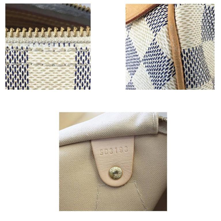 6cab311f5b3 Louis Vuitton Damier Azur Speedy 30 Handbag in Dust Bag