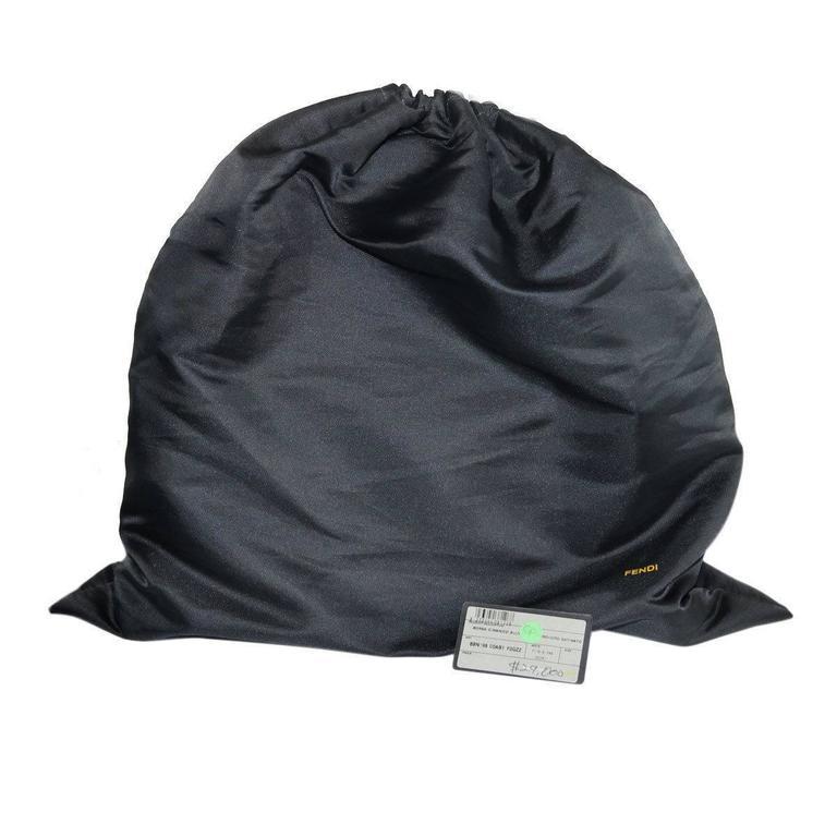 Fendi Rare Secret Code 8BN199 Brown Alligator & Mink Satchel Handbag Purse 10