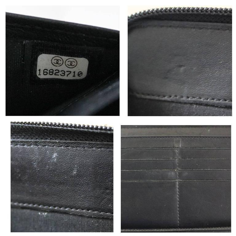 Chanel Black Lambskin Large Zip Around Boy Wallet No. 16 10