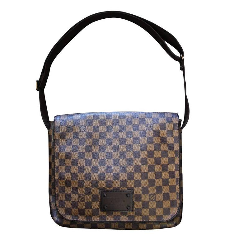 f0d4619e1773 Gray Louis Vuitton Brooklyn MM Damier Ebene Messenger Bag Discontinued For  Sale