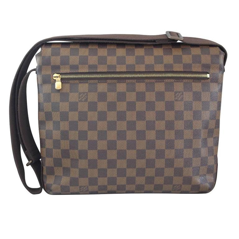 c6c576ca822b Company  Louis Vuitton Style  Messenger Bag Handles  Adjustable Brown  Cotton Canvas Cross. Gray Louis Vuitton Brooklyn MM Damier Ebene ...