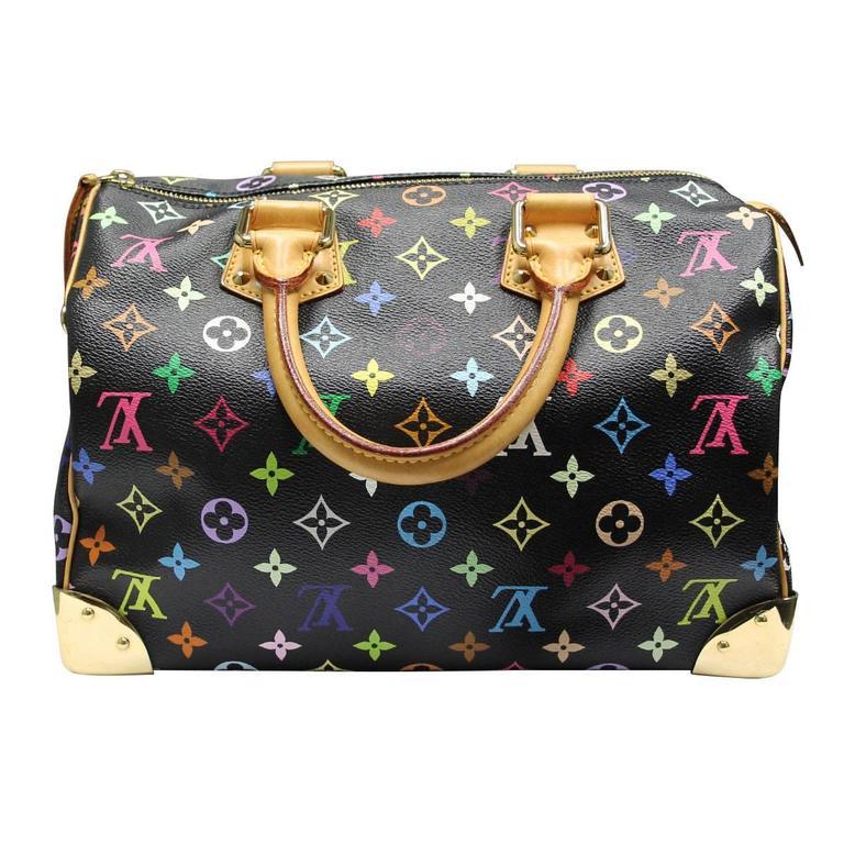 5c78090fdb624 Company  Louis Vuitton Style  Murakami Handbag Handles  Cowhide Leather  Rolled Handles  Drop. Louis Vuitton Murakami Speedy 30 Black Multicolor ...