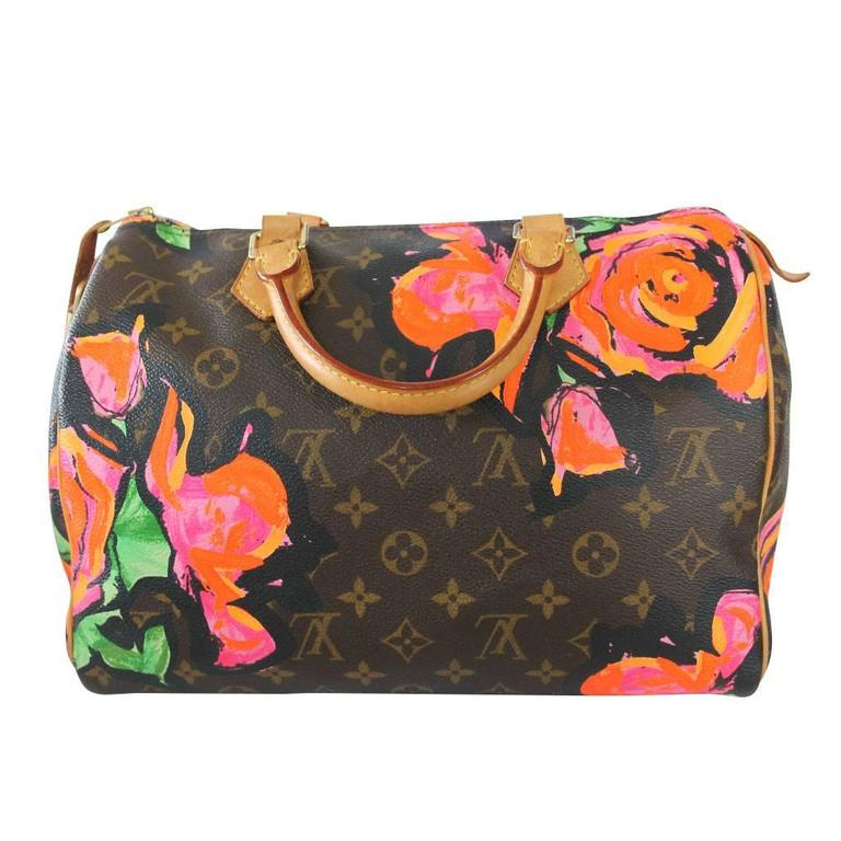 cc3dd6b35e0a Company  Louis Vuitton Style  Stephen Sprouse Rose Painted Handbag Handles   Cowhide Leather Rolled