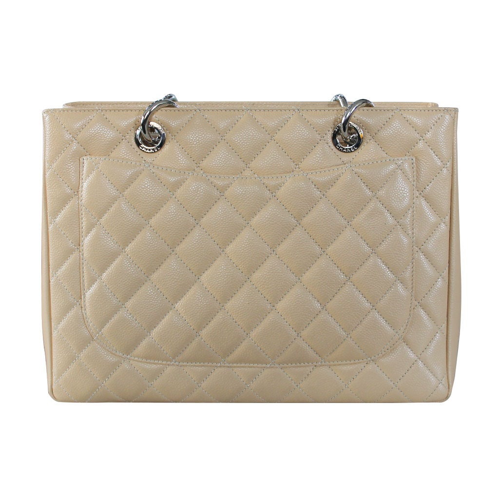 bc224879ac86 Chanel Beige Grand Shopping Tote GST in Dust Bag No. 19 at 1stdibs