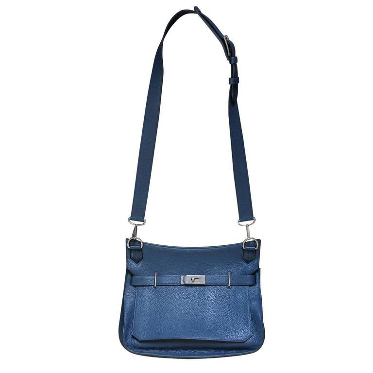 Hermes Jypsiere 34 Bleu de Malte Handbag in Box with Receipt 1