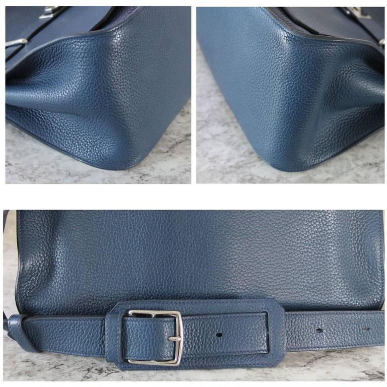 Hermes Jypsiere 34 Bleu de Malte Handbag in Box with Receipt For Sale 1
