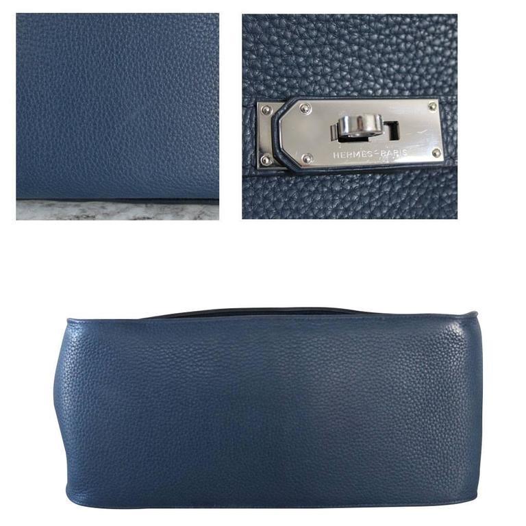 Hermes Jypsiere 34 Bleu de Malte Handbag in Box with Receipt 4