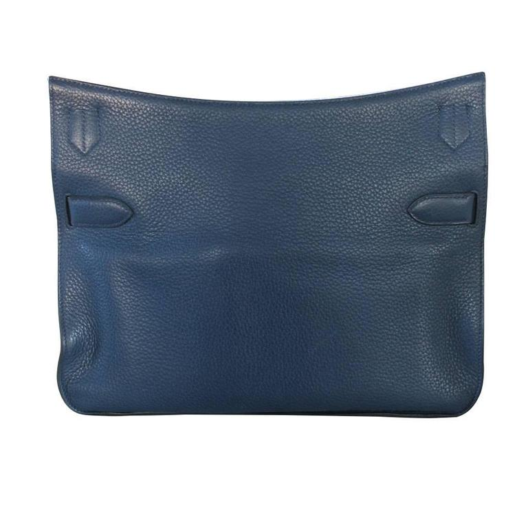 "Brand: Hermes Style: Messenger Bag Handles: Adjustable Removable Shoulder Strap with 5 Holes and Shoulder Pad for Comfort, Drop: 23"" Measurements: 13.5"" L x 6"" D x 10"" H Materials"" Bleau de Malte Taurillon Clemence"
