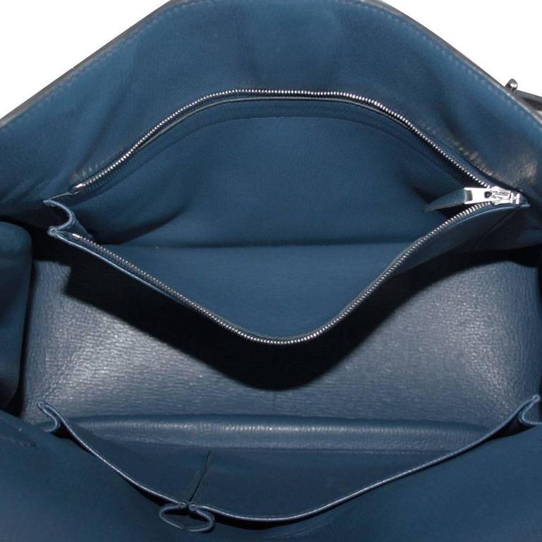 Hermes Jypsiere 34 Bleu de Malte Handbag in Box with Receipt 7