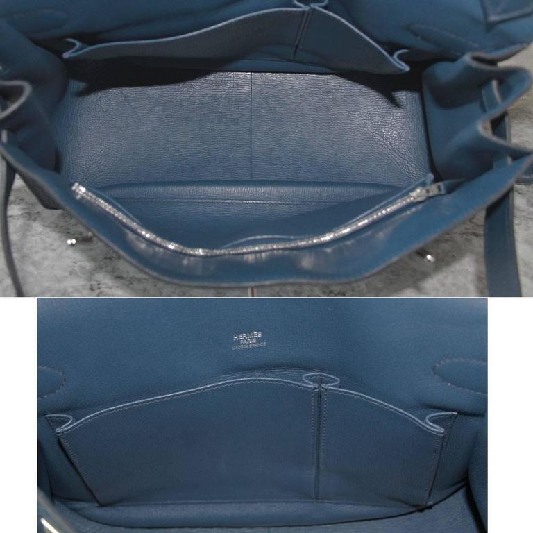 Hermes Jypsiere 34 Bleu de Malte Handbag in Box with Receipt 8