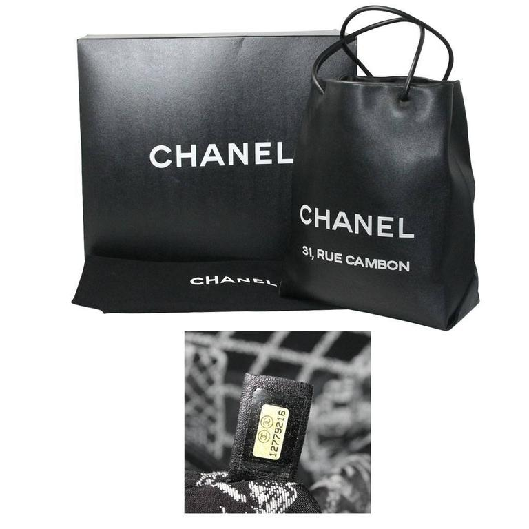 Chanel Petit 31 Rue Cambon Black Leather Runway Tote Bag in Box No. 12 10