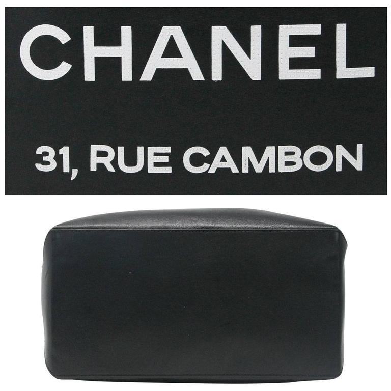 Chanel Petit 31 Rue Cambon Black Leather Runway Tote Bag in Box No. 12 4