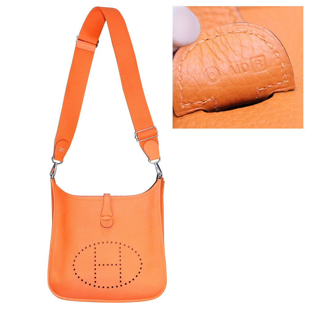 cf50918b94ef ... coupon code hermes evelyne iii pm orange clemence leather handbag in dust  bag 2014 at 1stdibs ...