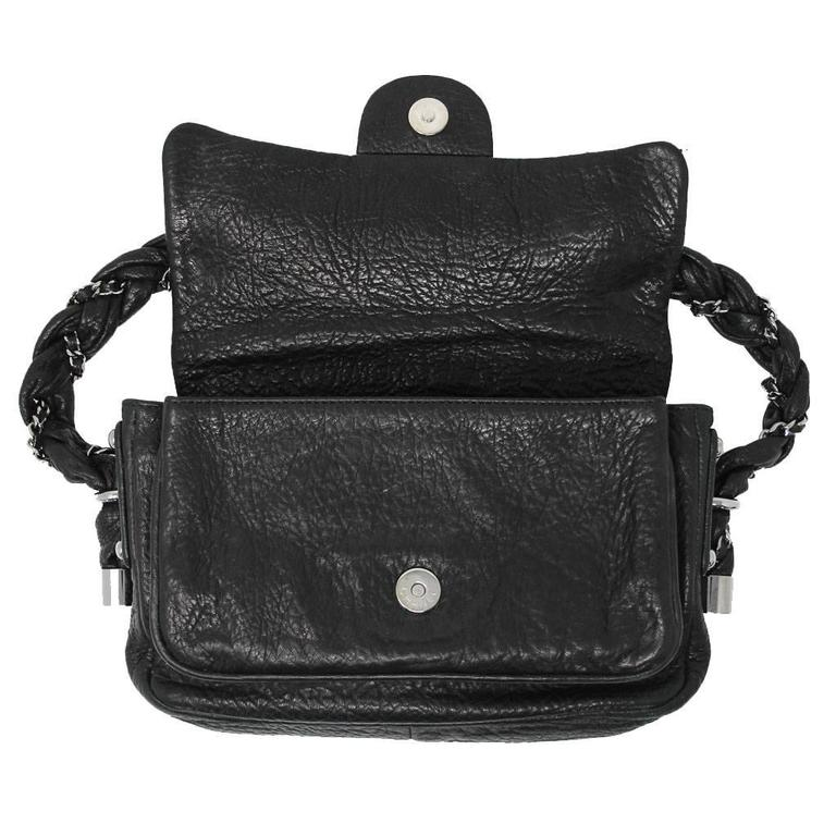 6b20d1e50921 Chanel Distressed Leather Quilted Flap Lady Braid Handle Handbag In Good  Condition For Sale In Boca