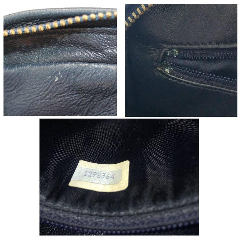 Chanel Navy Matelasse Tassel Lambskin GHW Shoulder Bag w/ Dust Bag For Sale 5