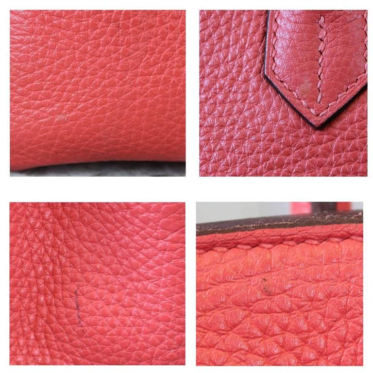 Hermes Birkin 35 Rose Jaipur Togo Leather Handbag Purse in Dust Bag 5
