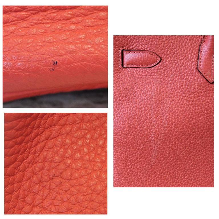 Hermes Birkin 35 Rose Jaipur Togo Leather Handbag Purse in Dust Bag For Sale 1