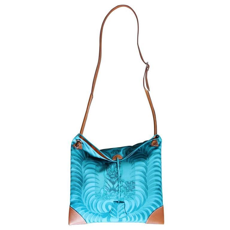 Hermes Sac SilkCity 33 Tigre Royal Limited Edition Tote Bag Purse in Box