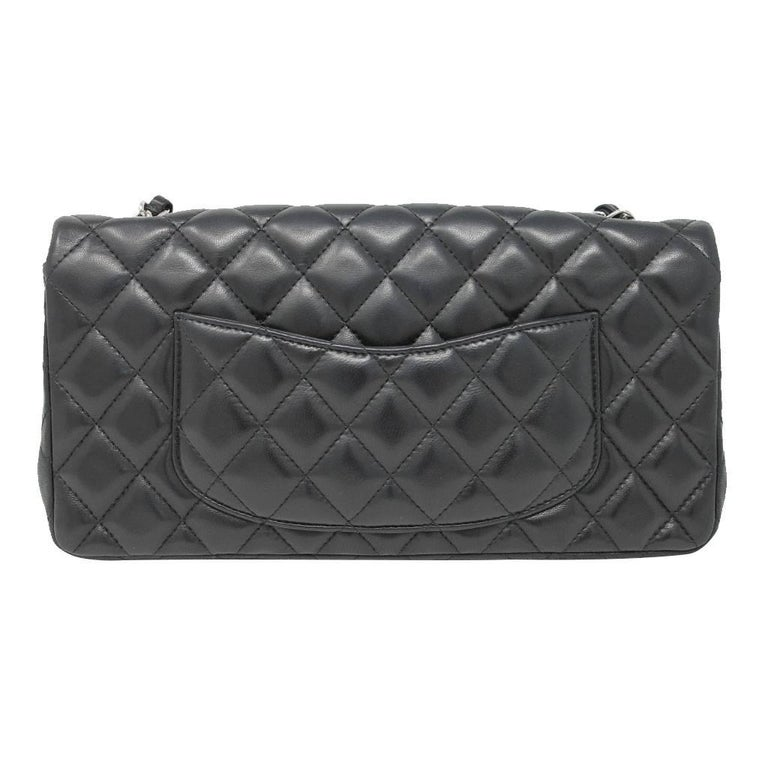 Chanel Black Lambskin Quilted Classic Flap Bag with Dust bag and Receipt 2