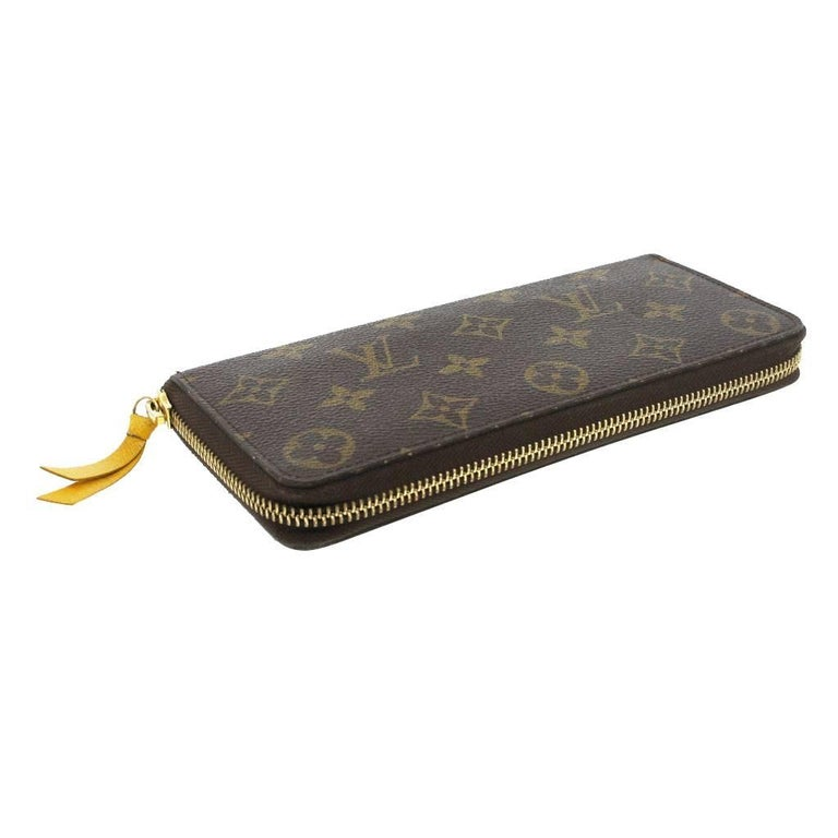 8f5092145530 Black Louis Vuitton Clemence Monogram Jonquille Wallet in Dust Bag For Sale