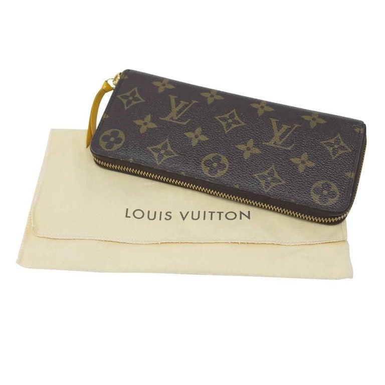 Louis Vuitton Clemence Monogram Jonquille Wallet in Dust Bag For Sale 5