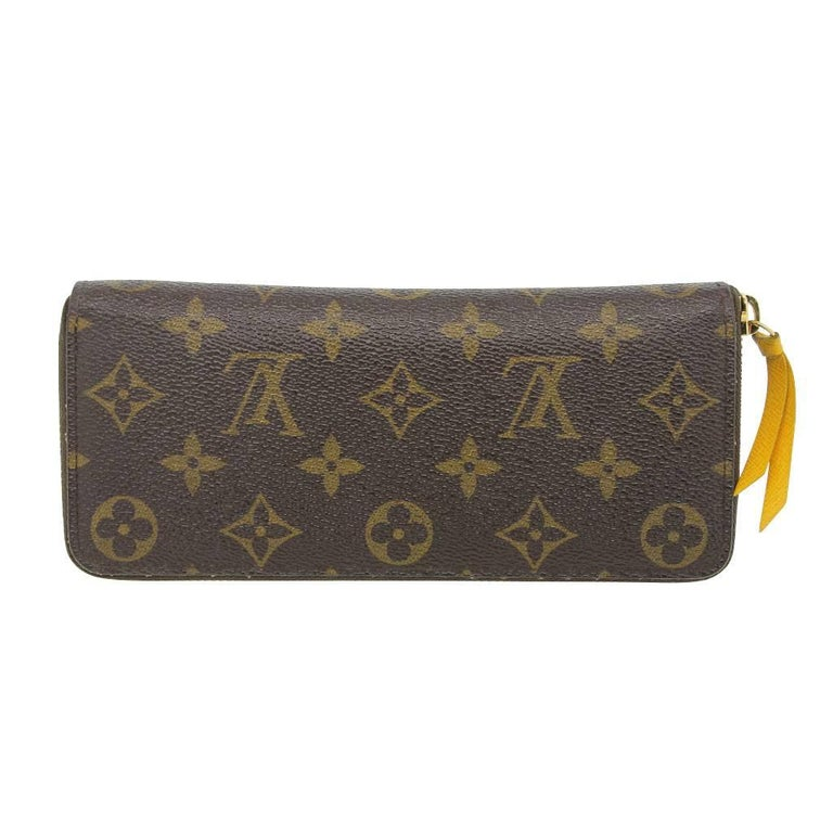 8ba024b8727c Brand  Louis Vuitton Style  Zip Around Wallet Measurements  7.5. Black Louis  Vuitton Clemence Monogram Jonquille Wallet in Dust Bag ...