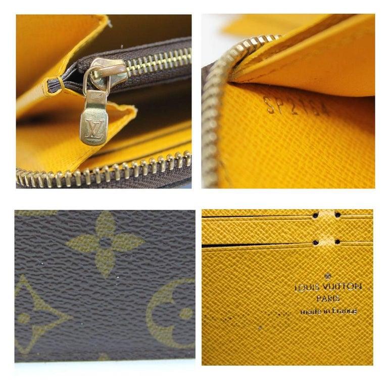 Louis Vuitton Clemence Monogram Jonquille Wallet in Dust Bag For Sale 3