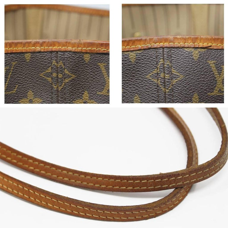 Louis Vuitton Neverfull MM Monogram Canvas Tote Bag For Sale 2
