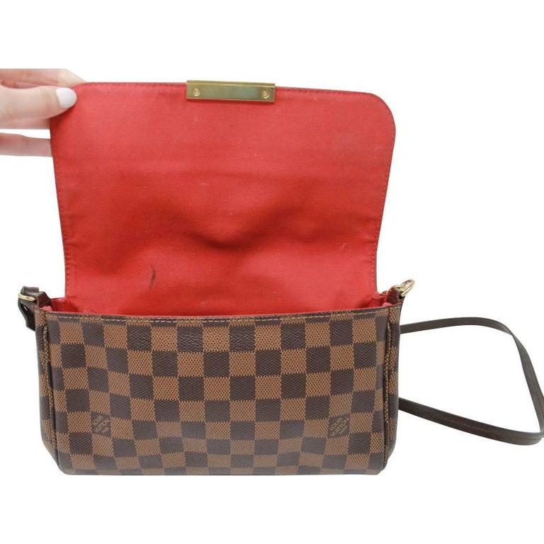6137a73695c7 Louis Vuitton Damier Ebene Favorite MM Handbag Purse at 1stdibs