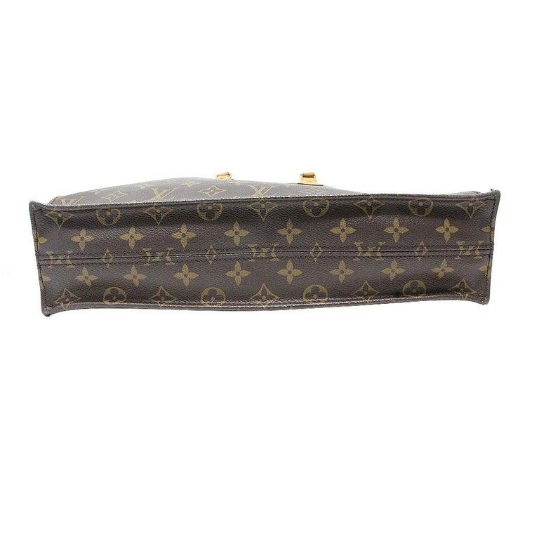 Black Louis Vuitton Sac Plat Monogram Large Tote Handbag  For Sale