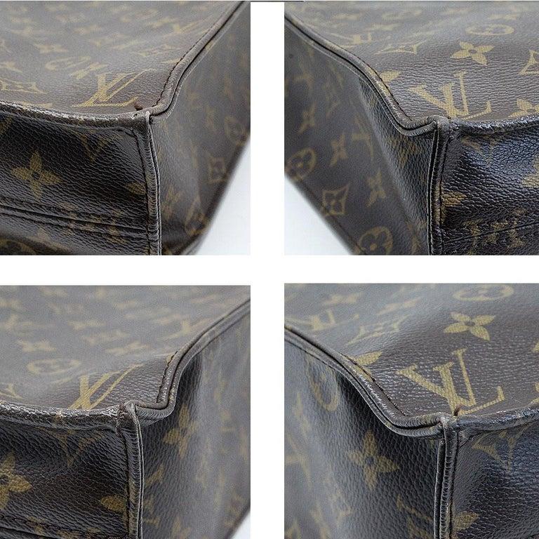 Louis Vuitton Sac Plat Monogram Large Tote Handbag  In Good Condition For Sale In Boca Raton, FL