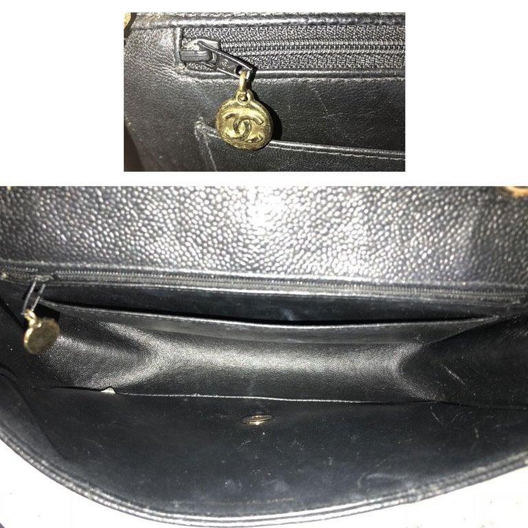 e3de2134f4d0 Chanel Black Caviar Diana Vintage Flap Bag No. 3 Gold Hardware w/ Dust Bag
