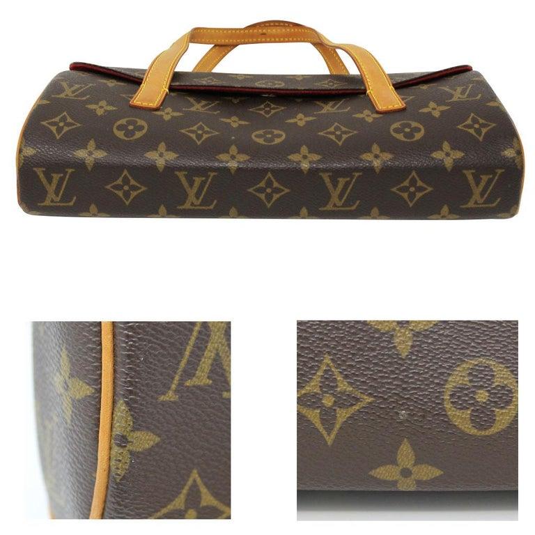 Black Authentic Louis Vuitton Sonatine Monogram Clutch Handbag For Sale
