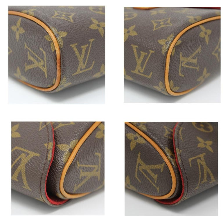 Authentic Louis Vuitton Sonatine Monogram Clutch Handbag In Good Condition For Sale In Boca Raton, FL
