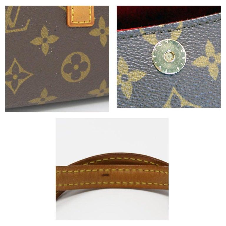 Women's or Men's Authentic Louis Vuitton Sonatine Monogram Clutch Handbag For Sale