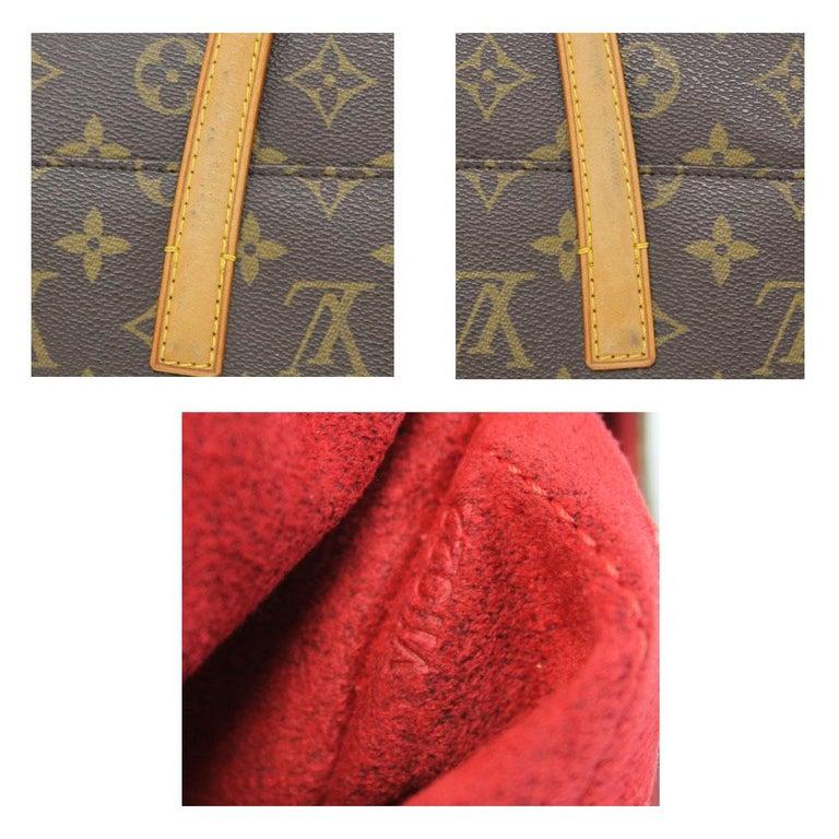 Authentic Louis Vuitton Sonatine Monogram Clutch Handbag For Sale 1