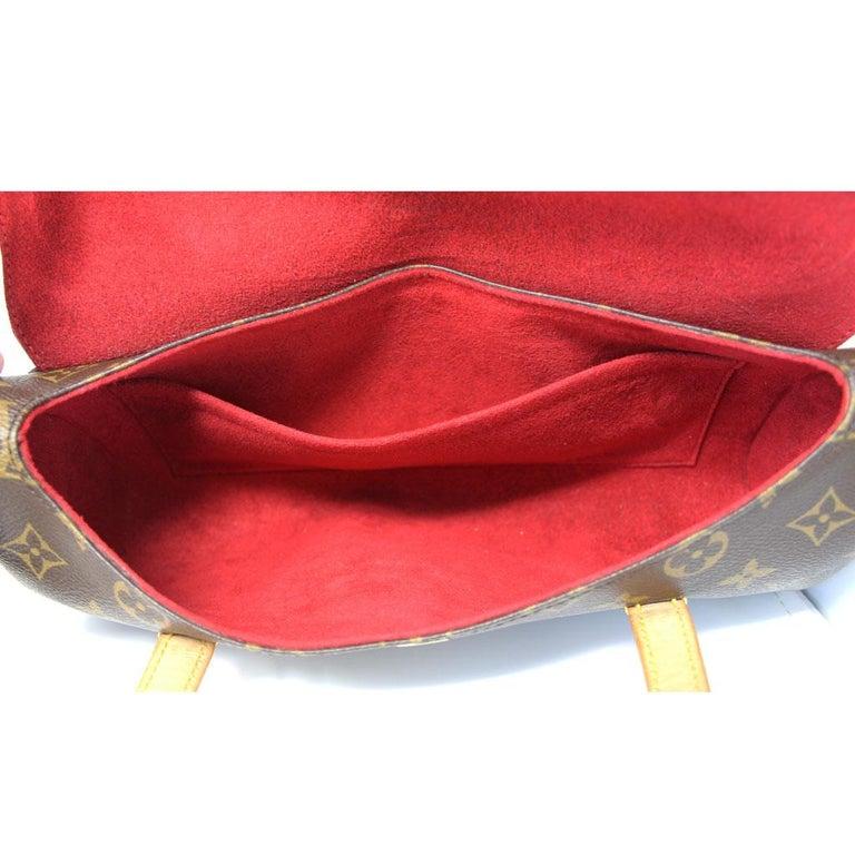 Authentic Louis Vuitton Sonatine Monogram Clutch Handbag For Sale 2