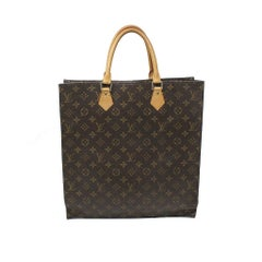 Louis Vuitton Sac Plat Monogram Handbag Large Tote