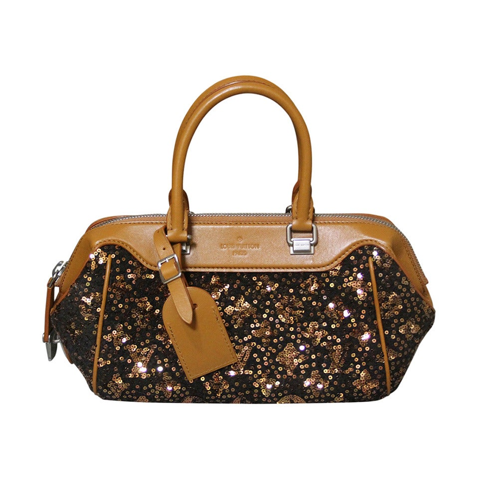 Louis Vuitton Limited Edition Caramel Monogram Sequins Sunshine Express Baby Bag