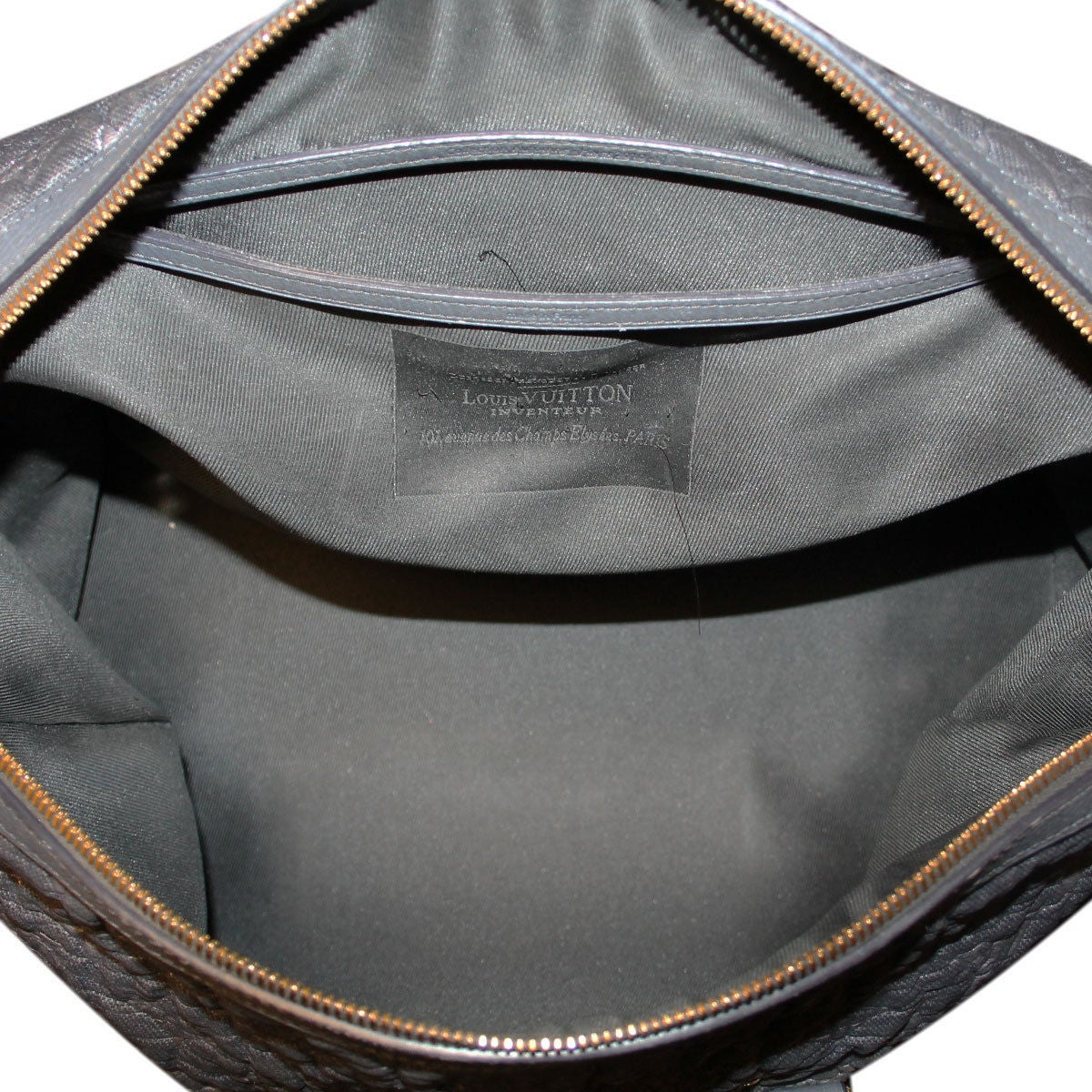 Louis Vuitton Volupte Psyche Leather Gris Bag Purse For Sale At 1stdibs