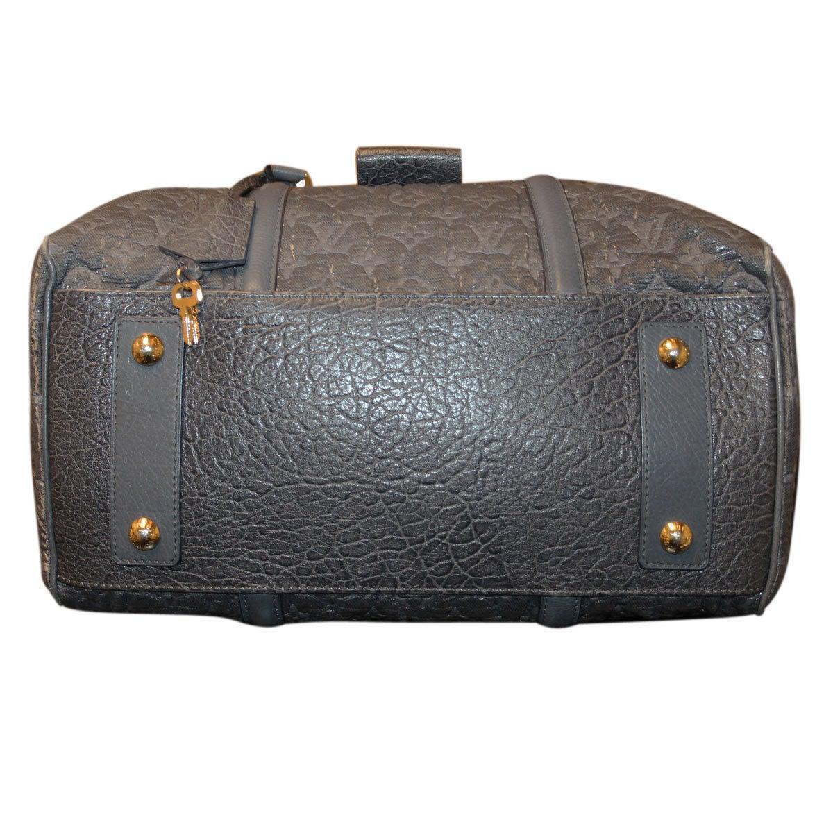 Black Louis Vuitton Volupte Psyche Leather Gris Bag Purse For Sale