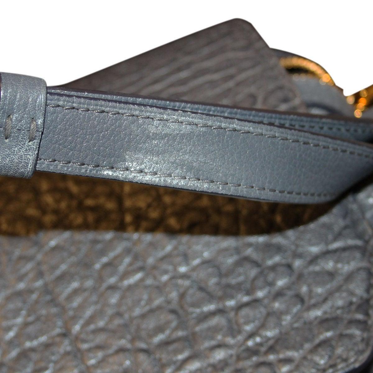 Louis Vuitton Volupte Psyche Leather Gris Bag Purse For Sale 4