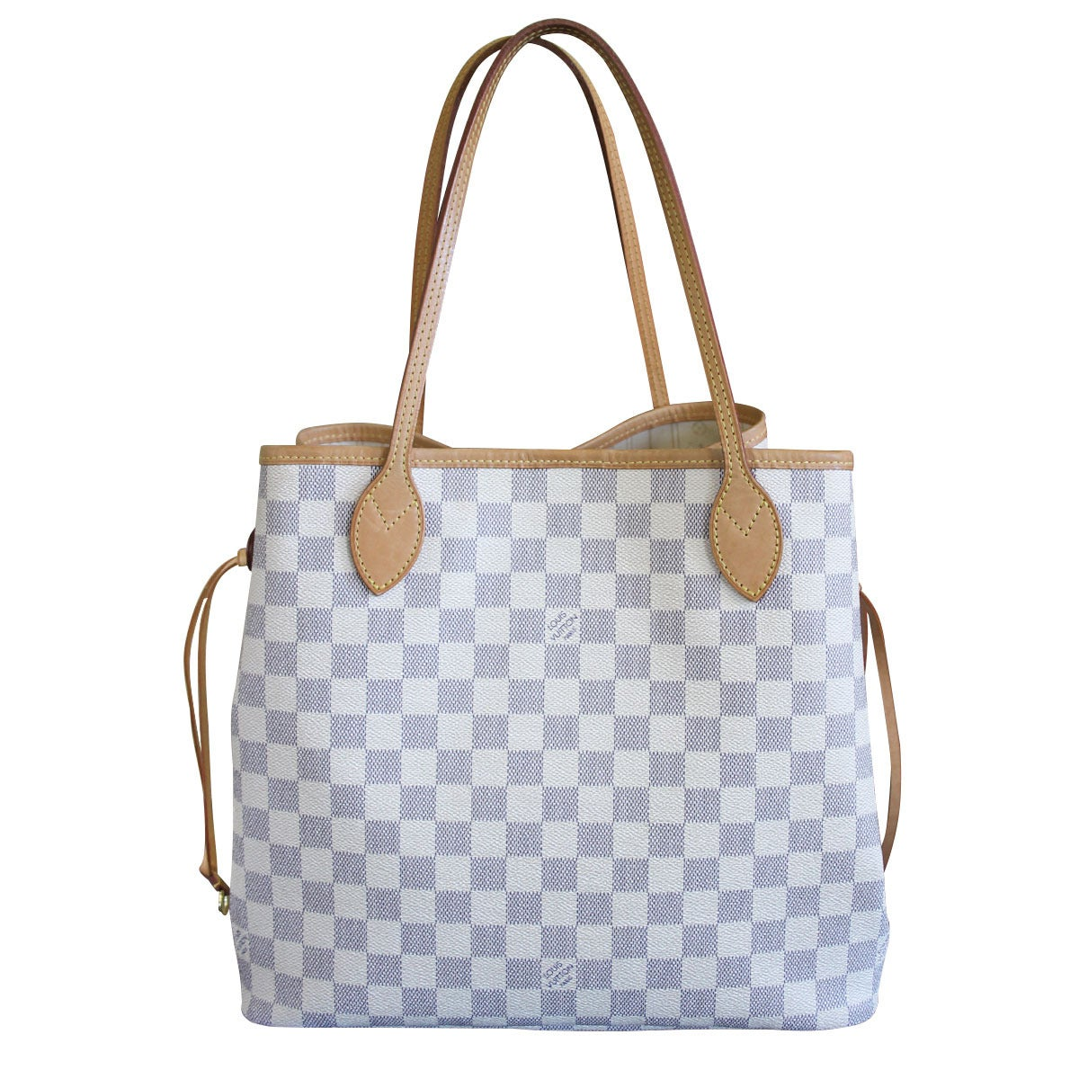 Louis Vuitton Neverfull MM Damier Azur Canvas Handbag Tote 2